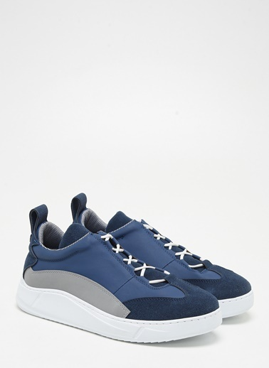 F By Fabrika Erkek Siyah-Lacivert Sneakers COSMOS Lacivert